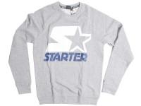Starter White and Navy Logo Grey Crewneck Jersey