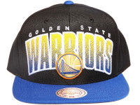 Golden State Warriors Arch Paint Underbrim Mitchell & Ness NBA Snapback Hat