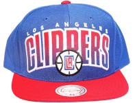 LA Clippers Arch Paint Underbrim Mitchell & Ness NBA Snapback Hat