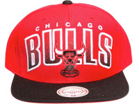 Chicago Bulls Arch Paint Underbrim Mitchell & Ness NBA Snapback Hat