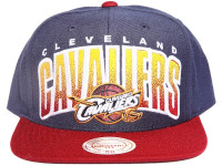 Cleveland Cavaliers Arch Paint Underbrim Mitchell & Ness NBA Snapback Hat
