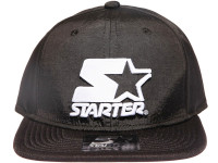 Starter White Star Logo Foam Trucker STARTER Black Nylon Snapback Hat