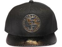 Starter Gold Metal Eagle Logo Carbon Fibre Brim STARTER Black Snapback Hat