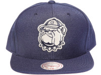 Hoyas Metallic Logo Navy Mitchell & Ness NBA Snapback Hat