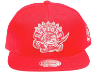 Toronto Raptors Metallic Logo Red Balance Mitchell & Ness NBA Snapback Hat
