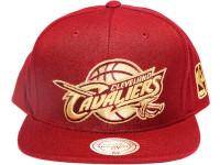 Cleveland Cavaliers Metallic Logo Maroon Mitchell & Ness NBA Snapback Hat