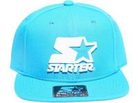 Solid Baby Blue White Logo STARTER Snapback Hat