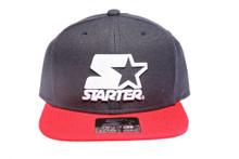 Red Navy 2-Tone White Logo  STARTER Snapback Hat