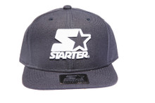 MIdnight Blue White Logo STARTER Snapback Hat