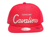 Cleveland Cavaliers Solid Burgundy Reflective Script Mitchell & Ness NBA Snapback Hat