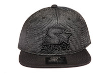 Black and Silver Mesh Logo Neo STARTER Snapback Hat