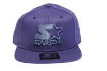 Solid Twilight Blue Logo STARTER Snapback Hat