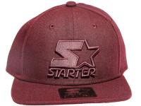 Solid Burgundy Logo STARTER Snapback Hat