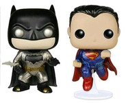 Batman and Superman Metallic Twin Pack - Batman vs Superman - Pop! Heroes Vinyl Figure