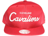 Cleveland Cavaliers Script Nylon Mitchell & Ness NBA Maroon Snapback Hat