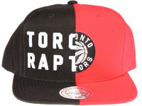 Toronto Raptors Split Logo Arch Mitchell & Ness NBA Teal and Purple Snapback Hat