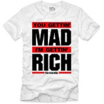 Goonville Mad Rich Red and Black Logo White T-Shirt