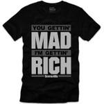 Goonville Mad Rich Grey Logo Black T-Shirt