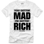 Goonville Mad Rich Black and Grey Logo White T-Shirt