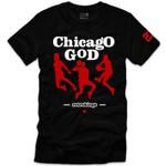 Retro Kings Chicago God Logo Black T-Shirt