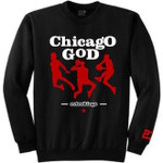Retro Kings Chicago God Logo Black Crewneck Jersey