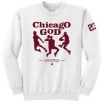 Retro Kings Chicago God Maroon Logo White Crewneck Jersey