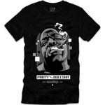 Retro Kings Biggie Party Grey Logo Black T-Shirt