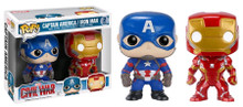 Captain America 3: Civil War - Iron Man & Captain America US Exclusive Pop! Vinyl Figures 2 Pack