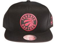 Toronto Raptors Reflective Logo Mitchell & Ness NBA Black Snapback Hat