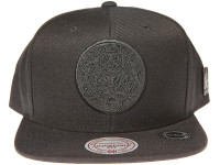 Vancouver Grizzlies Genuine Leather Logo Mitchell & Ness NBA Black Snapback Hat