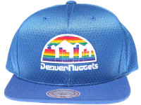 Denver Nuggets Logo Mitchell & Ness NBA Blue Mesh Snapback Hat
