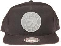 Toronto Raptors Clear Logo Mitchell & Ness NBA Black Nylon Snapback Hat