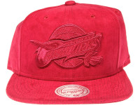 Cleveland Cavaliers Logo Mitchell & Ness NBA Maroon Suede Snapback Hat