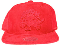 Toronto Raptors Logo Mitchell & Ness NBA Red Suede Snapback Hat