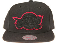 Cleveland Cavaliers Maroon Outline Logo Mitchell & Ness NBA Black Snapback Hat