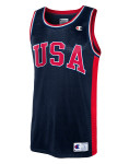 Champion USA Red Logo Navy Basketball Jersey
