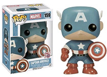 75th Anniversary Sepia Tone Captain America Exclusive Pop Marvel Vinyl Figure