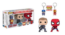 Figure and Keychain 4-pack Exclusive - Captain America 3 Civil War - POP! Marvel Vinyl Figure