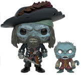 Cursed Barbossa with Monkey - Pirates of the Caribbean - SDCC Exclusive - Pop! Movies Vinyl Figure