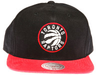 Toronto Raptors Sandy 2-tone Red and Black Mitchell & Ness NBA Snapback Hat