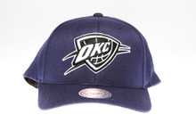 OKC Thunder Navy Flex-Fit Mitchell & Ness NBA Snapback Hat