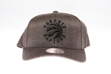 Toronto Raptors Grey Flex-Fit Mitchell & Ness NBA Snapback Hat