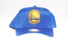 Golden State Warriors Blue Flex-Fit Mitchell & Ness NBA Snapback Hat