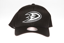 Anaheim Ducks Black Flex-Fit Mitchell & Ness NBA Snapback Hat