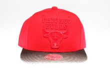 Chicago Bulls Black & Grey Underbrim Mitchell & Ness NBA Snapback Hat