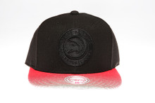 Atlanta Hawks Red & Grey Underbrim Mitchell & Ness NBA Snapback Hat
