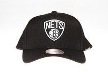 Brooklyn Nets Black & White Flex-Fit Mitchell & Ness NBA Snapback Hat