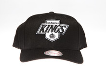 Los Angeles Kings Black & White Flex-Fit Mitchell & Ness NBA Snapback Hat