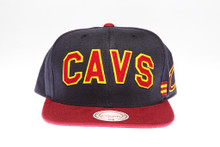 Cleveland Cavaliers Block Script Two-Tone Arch Mitchell & Ness Snapback Hat