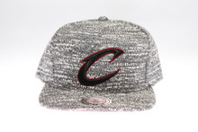 Cleveland Cavaliers Grey Static Arch Mitchell & Ness Snapback Hat